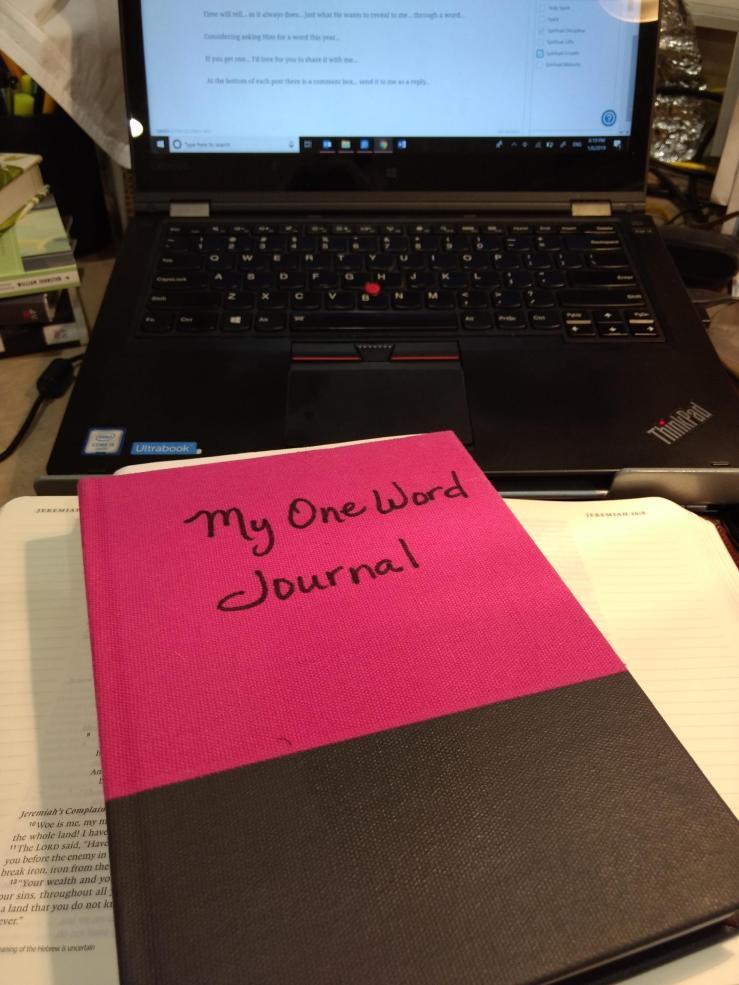 jeremiah's menu-one word-spiritual growth-new year